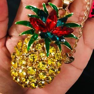 BETSEY JOHNSON~ XLarge Pineapple Necklace